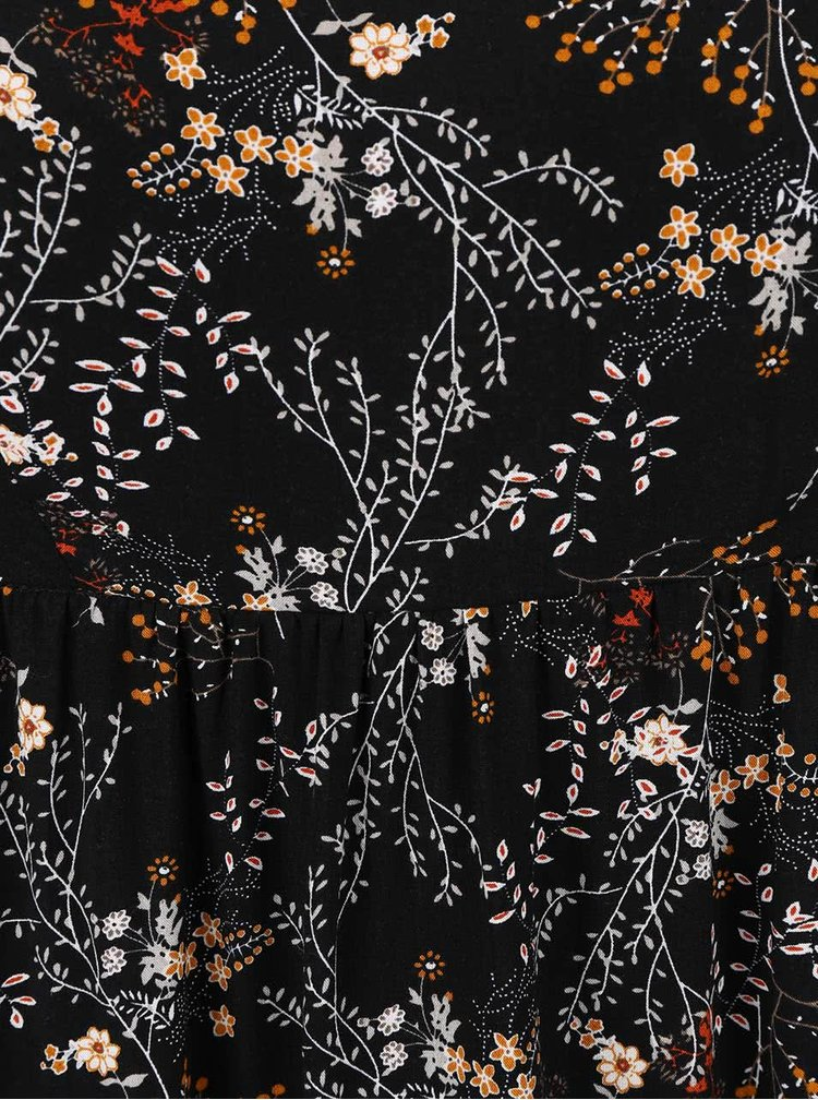 Čierne kvetinové maxišaty ONLY Nova