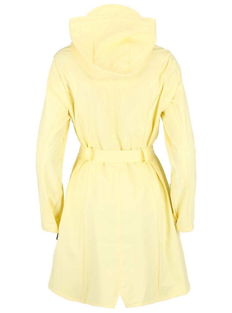 Světle žlutý dámský nepromokavý kabát RAINS