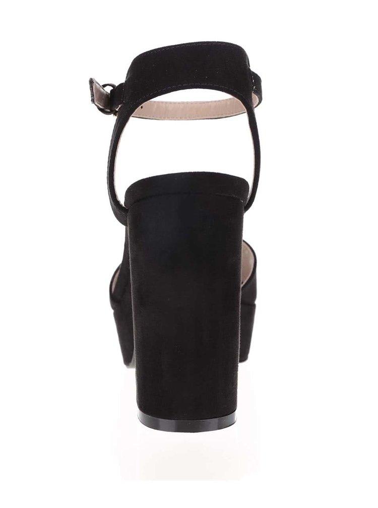 Sandale cu toc Miss Selfridge negre