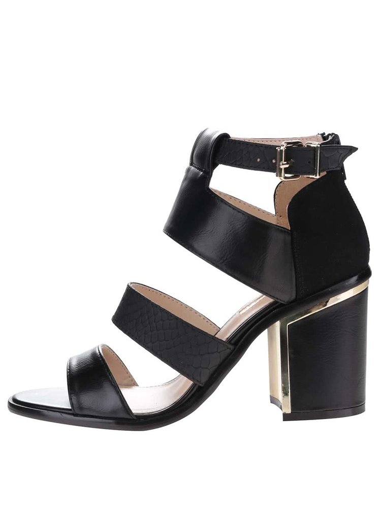 Sandale cu toc Miss Selfridge negre
