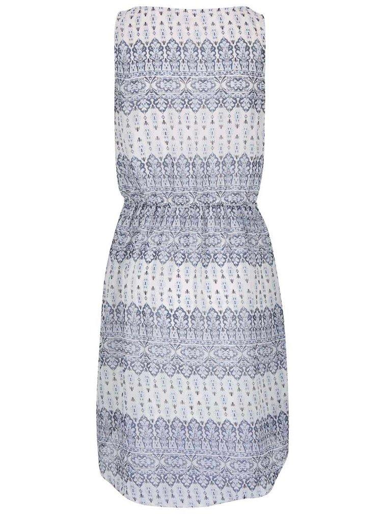 Modré vzorované šaty ONLY Devina