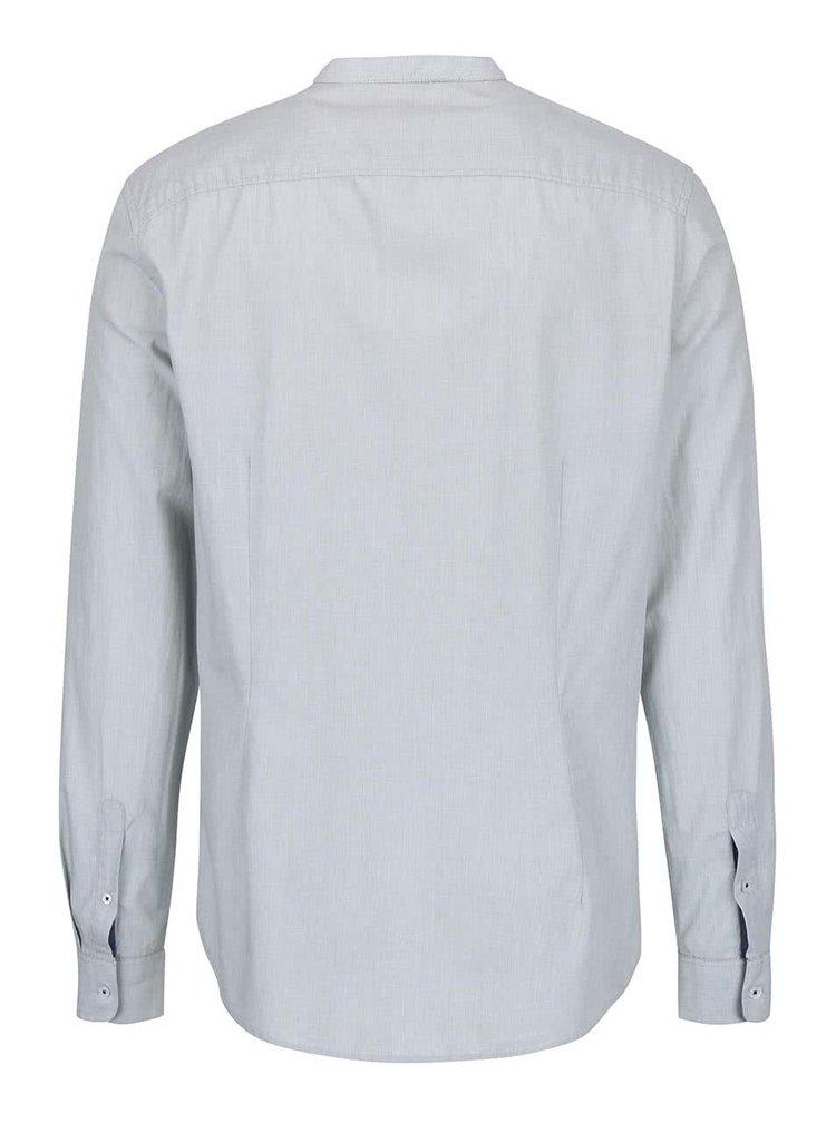 Cămașă Burton Menswear London albastru-deschis cu guler îngust