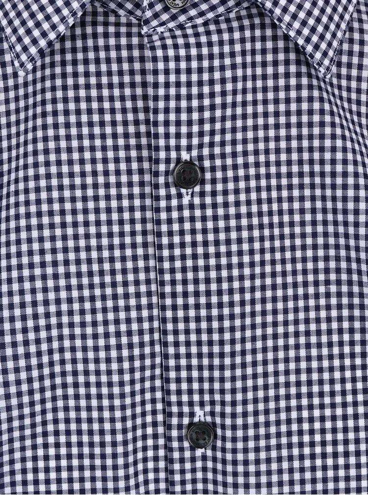 Modrý set kostkované košile s kravatou Burton Menswear London