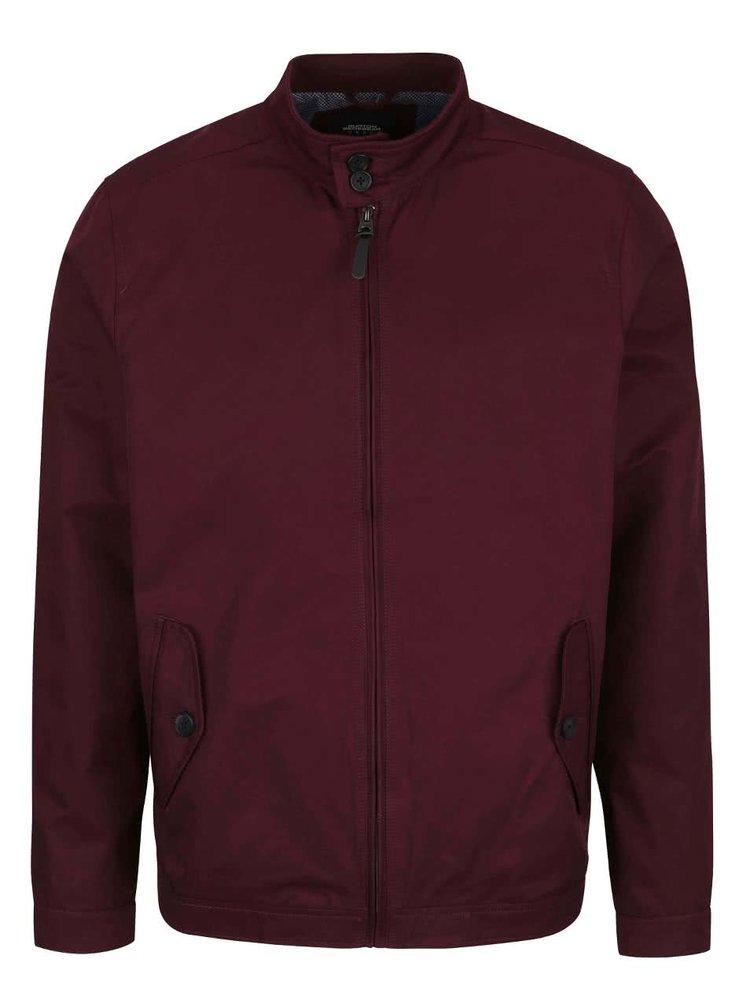 Vínová bunda na zip Burton Menswear London