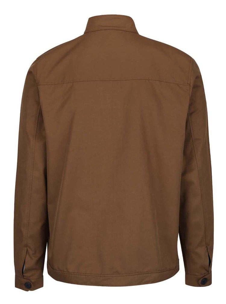 Světle hnědá bunda na zip Burton Menswear London