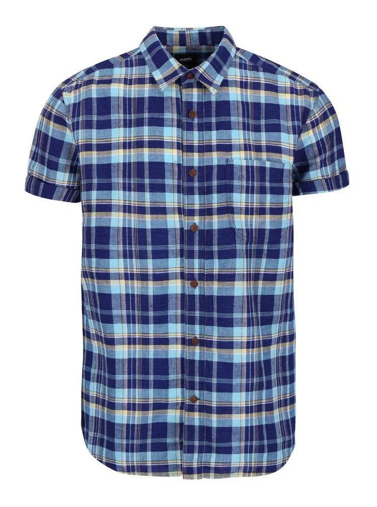 Camasa Burton Menswear London albastra in carouri