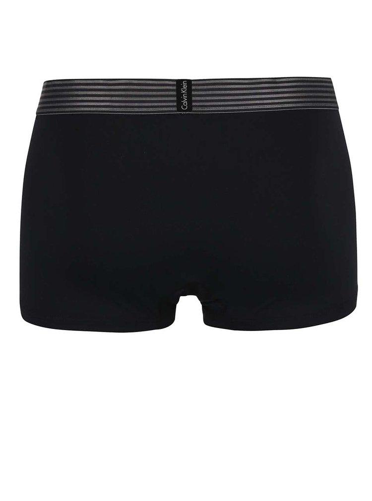 Černé kratší boxerky s ozdobným pasem Calvin Klein