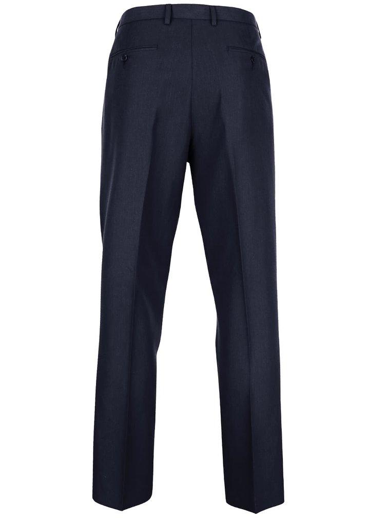 Modré slim fit formální kalhoty Burton Menswear London