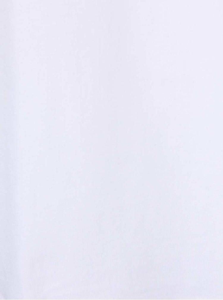 Bílé kratší boxerky s širokým pasem Calvin Klein