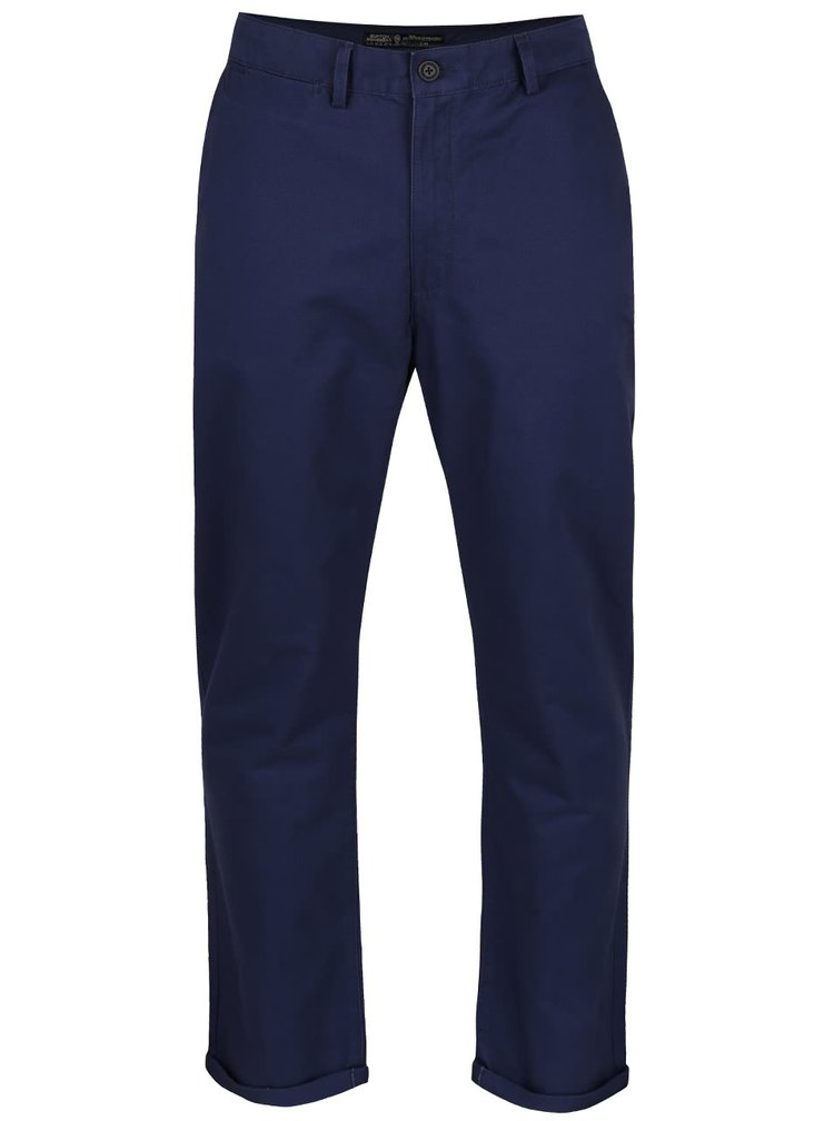 Pantaloni slim chino Burton Menswear London albastru inchis