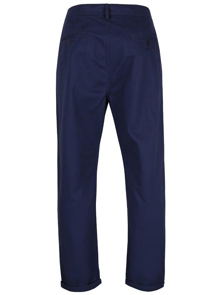 Tmavě modré slim chino kalhoty Burton Menswear London