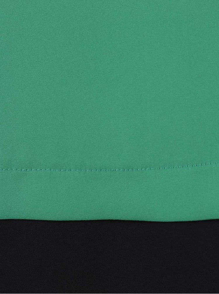 Zelená blúzka s čiernym lemom Dorothy Perkins