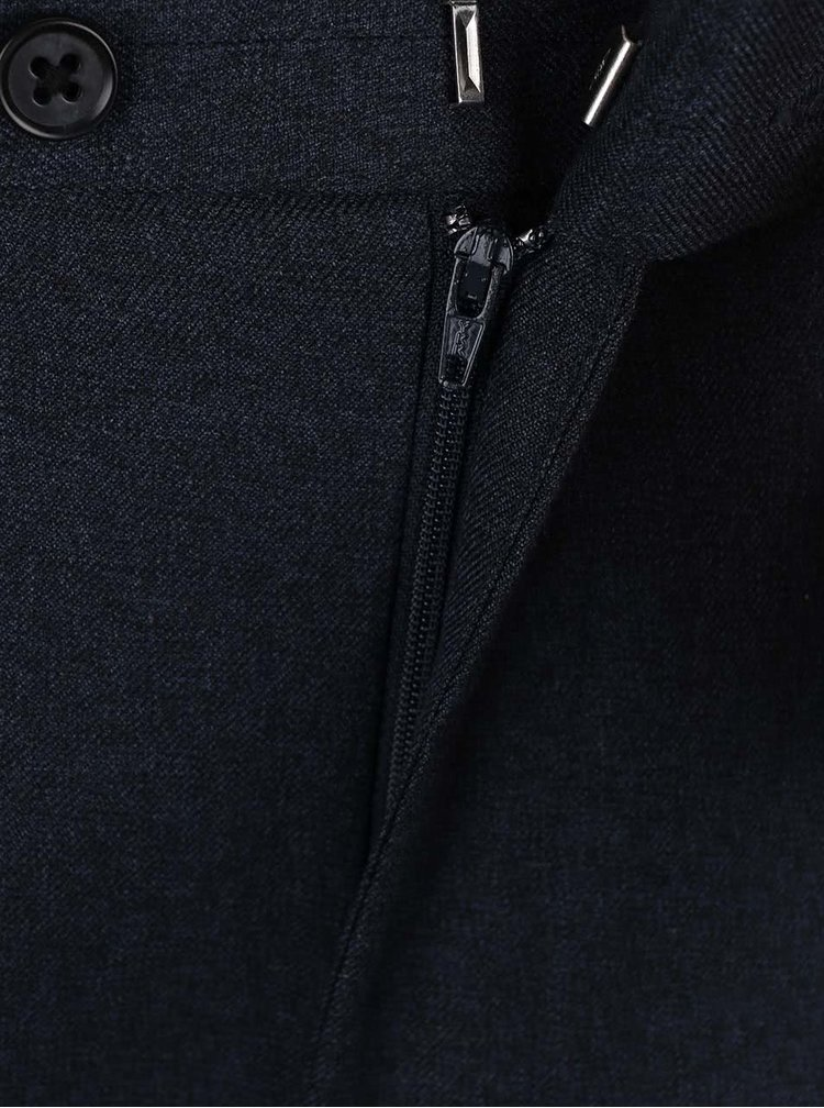 Tmavomodré slim fit nohavice Burton Menswear London