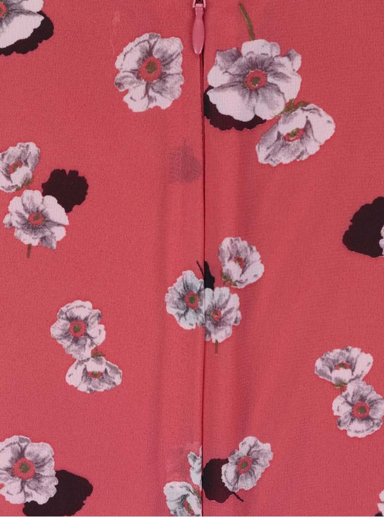 Rochie roșie Dorothy Perkins cu imprimeu floral și cordon