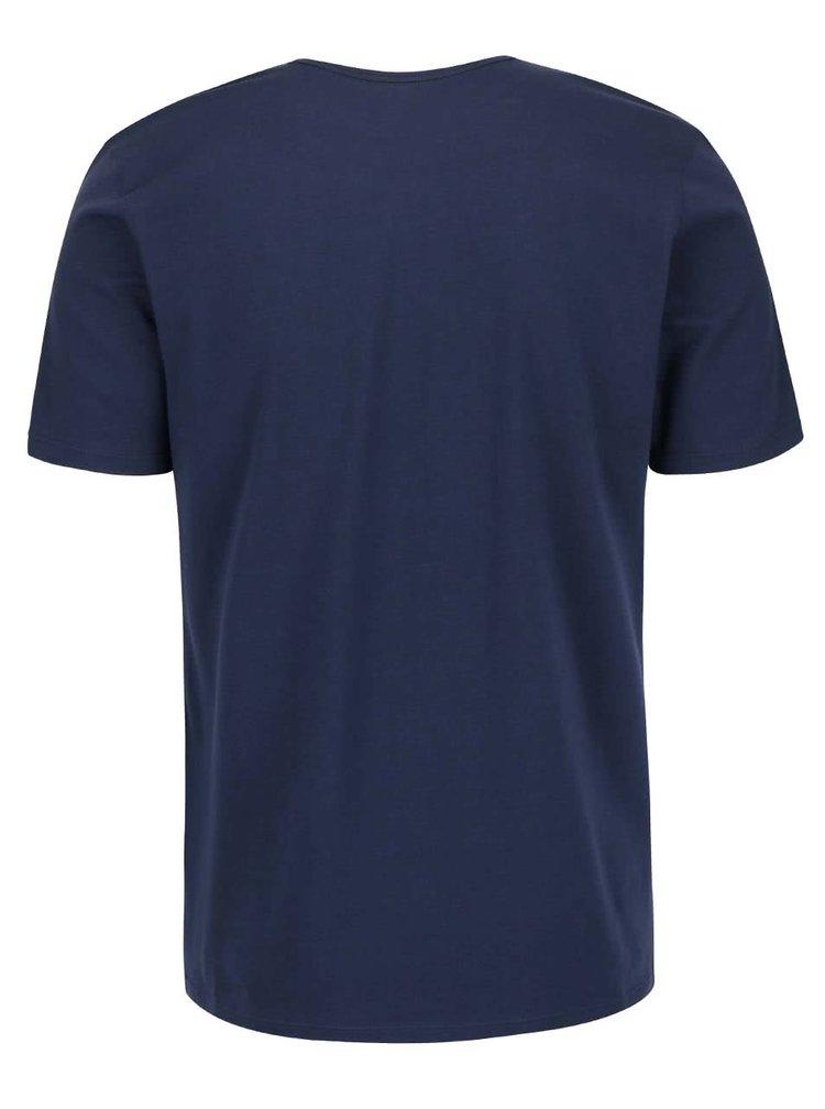 Set 2 tricouri albastru inchis Calvin Klein slim fit pentru barbati