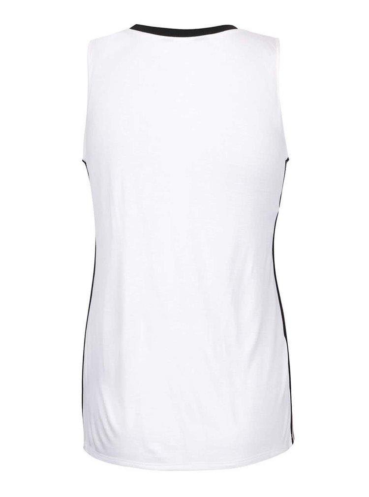 Biele tričko bez rukávov s nápisom Dorothy Perkins