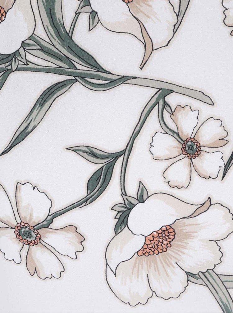 Krémové květinové kimono s pruhovaným lemem Dorothy Perkins