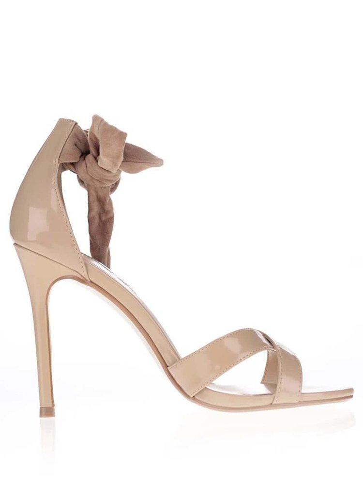 Béžové sandály na jehlovém podpatku Dorothy Perkins