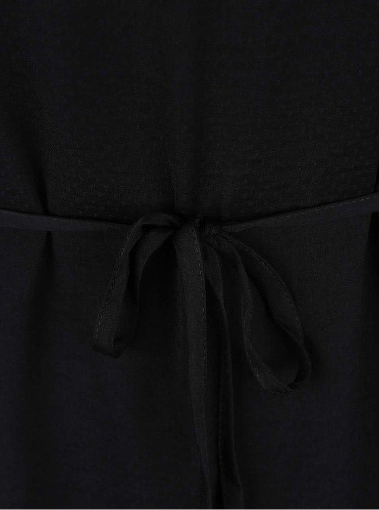 Černé šaty s detailem ve zlaté barvě VILA Siba