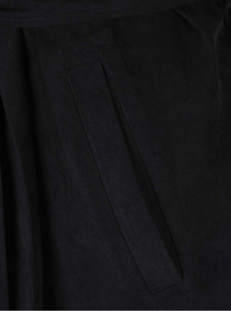 Čierny kabát so zaväzovaním VILA Can