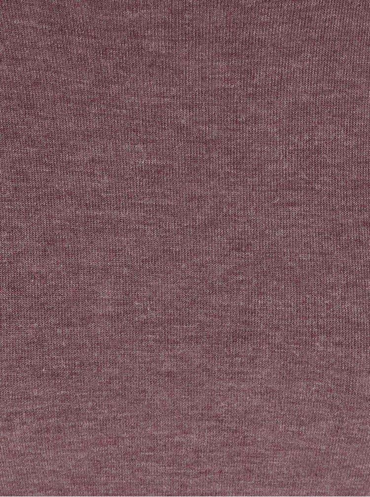 Fialové žíhané dlhé tričko VILA Silla