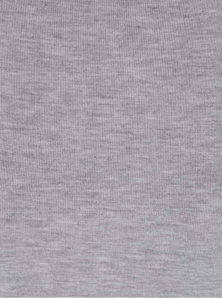Svetlosivé žíhané dlhé tričko VILA Silla