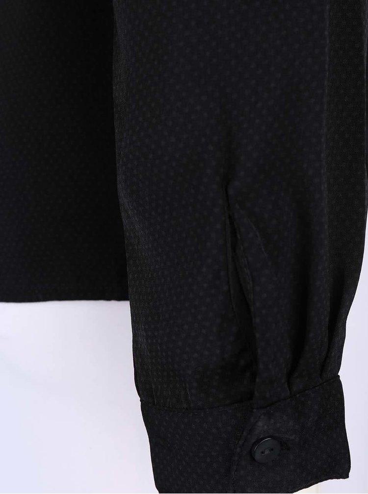 Černá halenka s puntíky VILA Melli