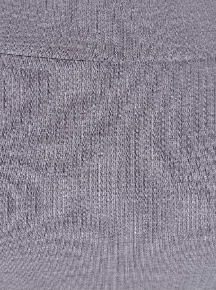 Sivé tričko s odhalenými ramenami Miss Selfridge