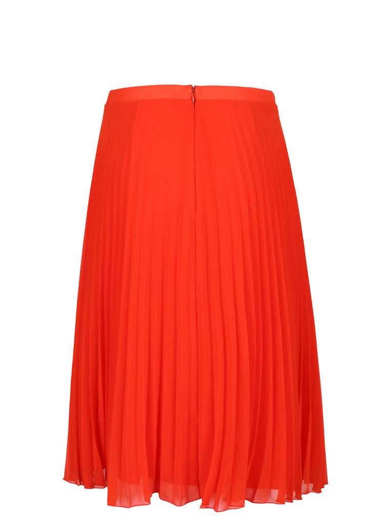Červená plisovaná midi sukňa Miss Selfridge