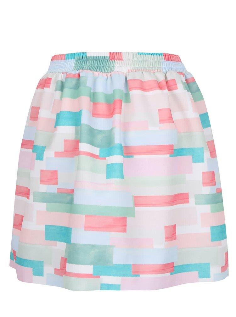 Zeleno-růžová vzorovaná sukně Alchymi