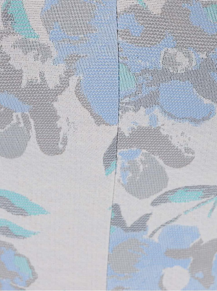 Top Miss Selfridge albastru deschis cu imprimeu