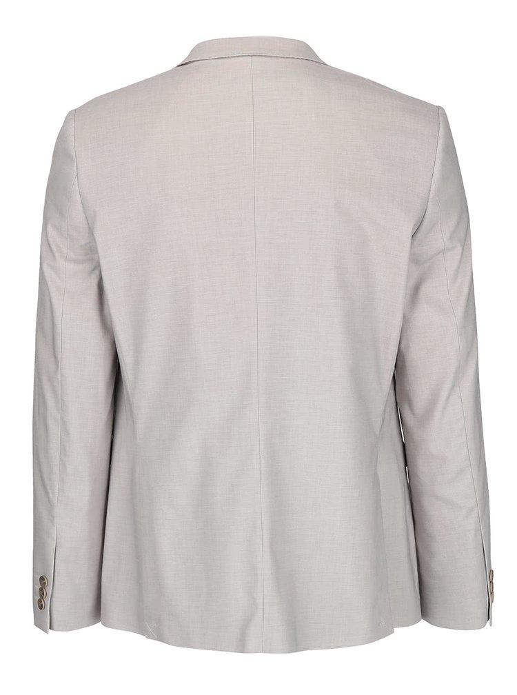 Světle šedé slim fit sako Burton Menswear London