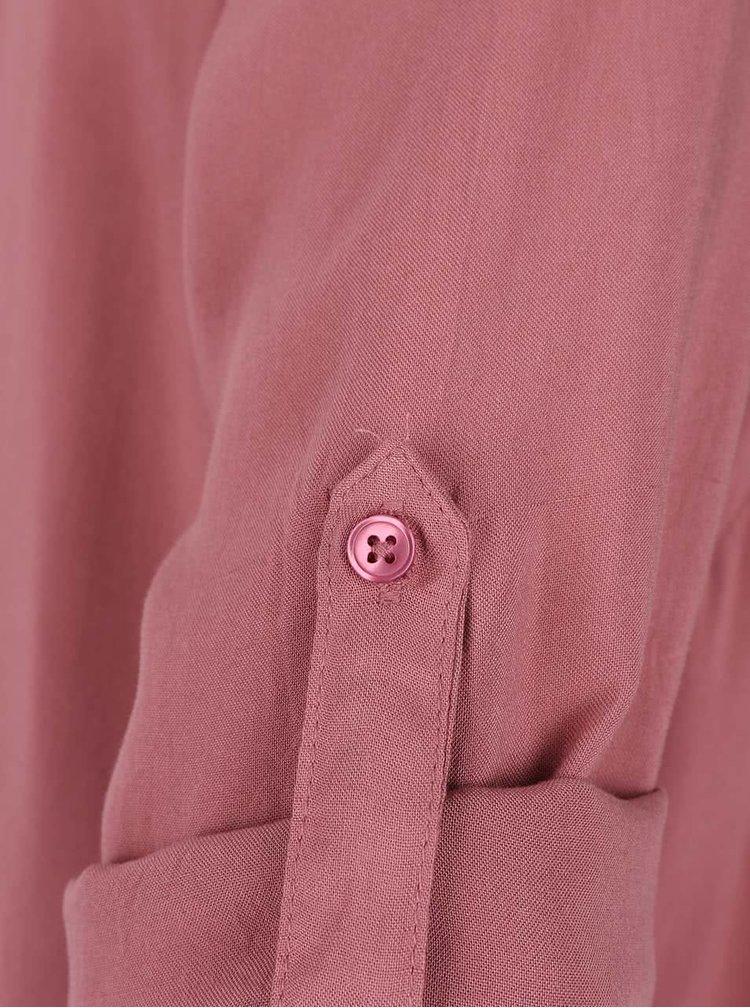 Růžová volnější halenka s 3/4 rukávy ONLY Geggo