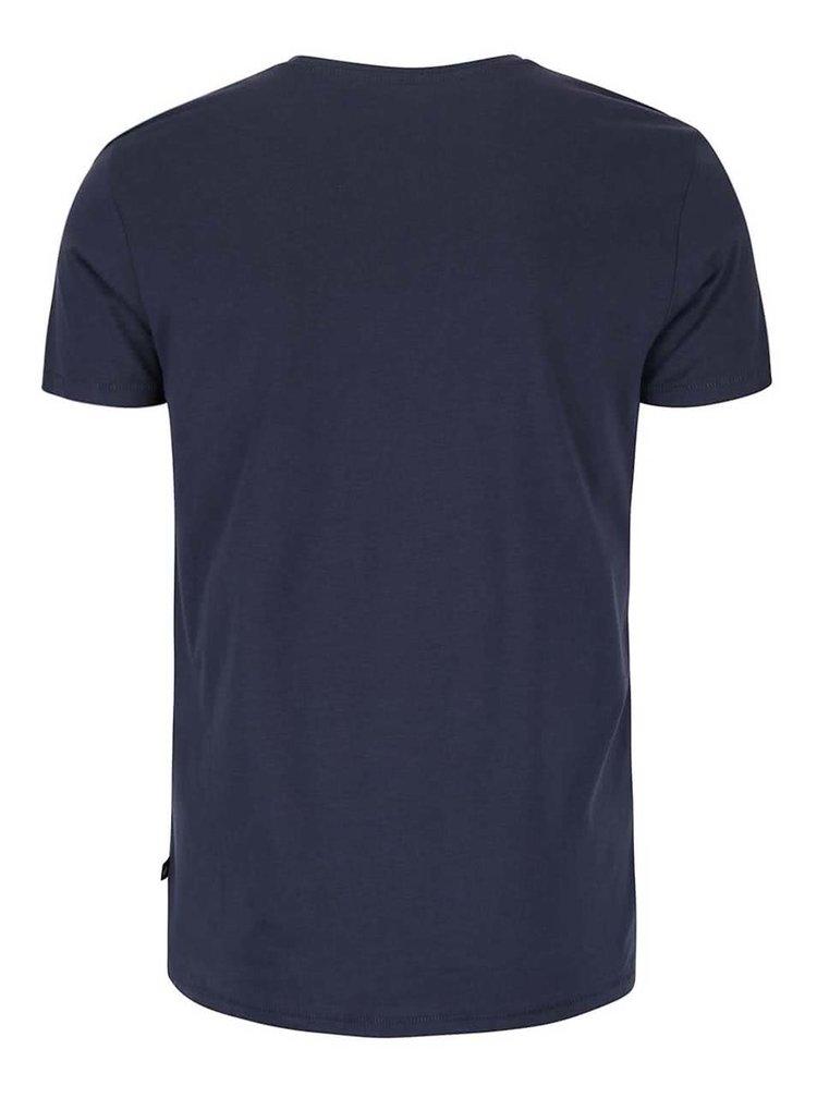 Tmavě modré pánské triko s potiskem Santa Monica s.Oliver