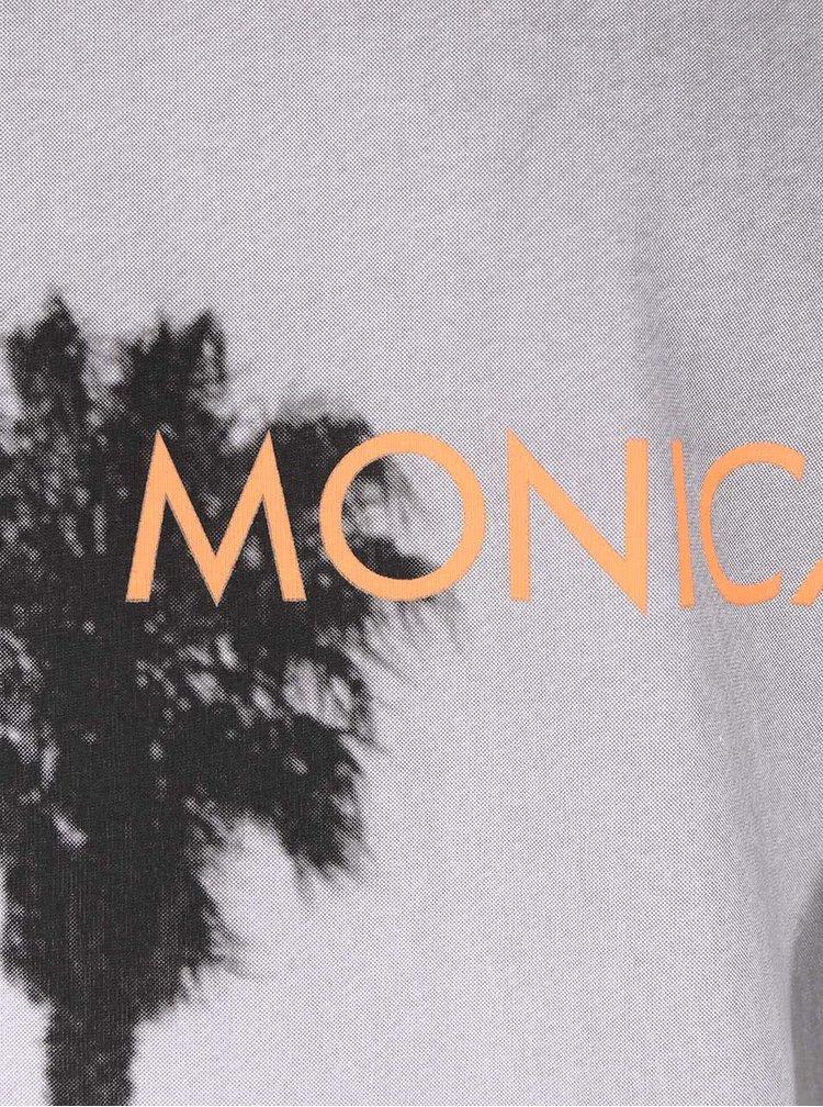 Tricou alb s.Oliver Santa Monica cu print