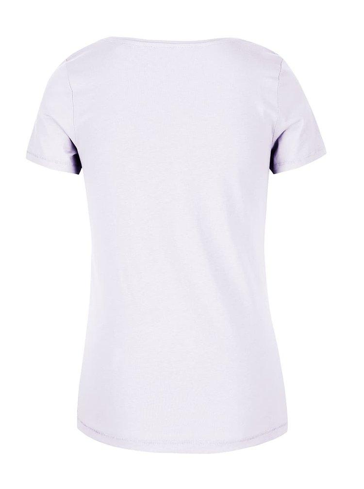 Bílé dámské tričko s potiskem s.Oliver