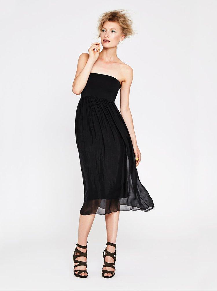 Černé šaty bez ramínek Alchymi Torenia