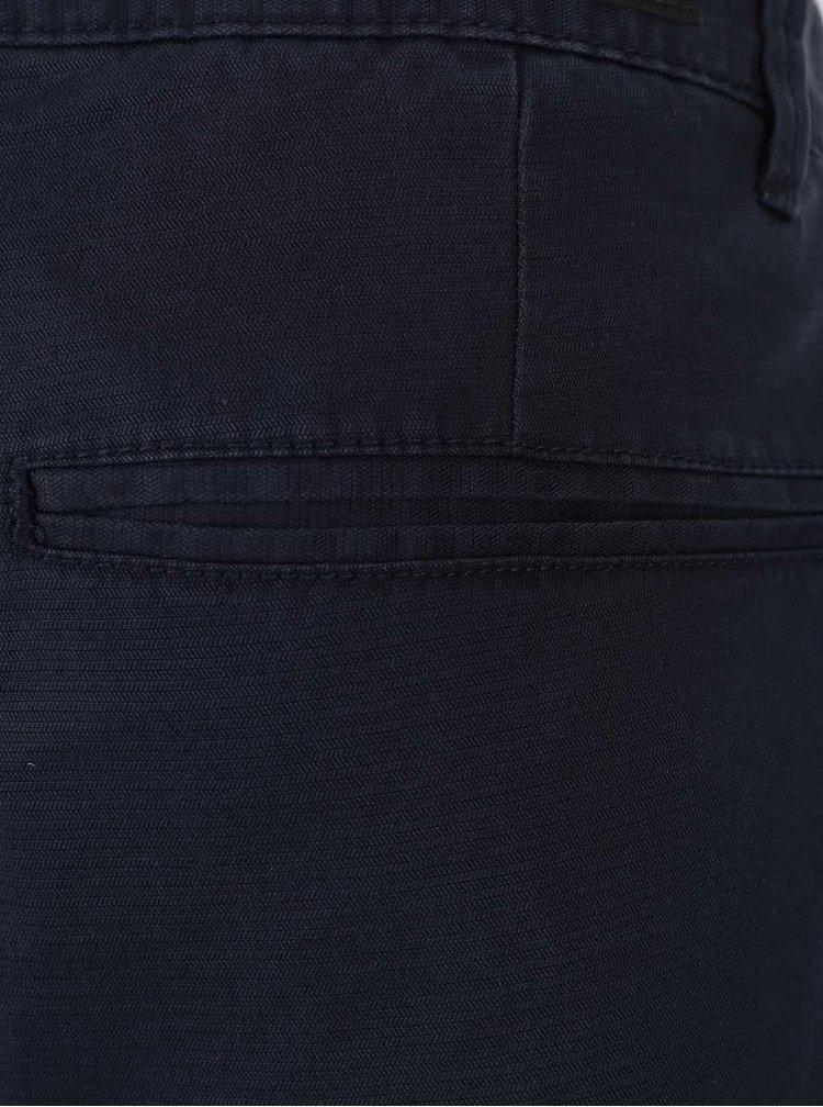 Tmavě modré pánské chino kraťasy nad kolena s.Oliver