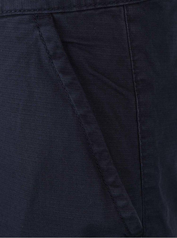 Tmavomodré pánske chino kraťasy nad kolená s.Oliver