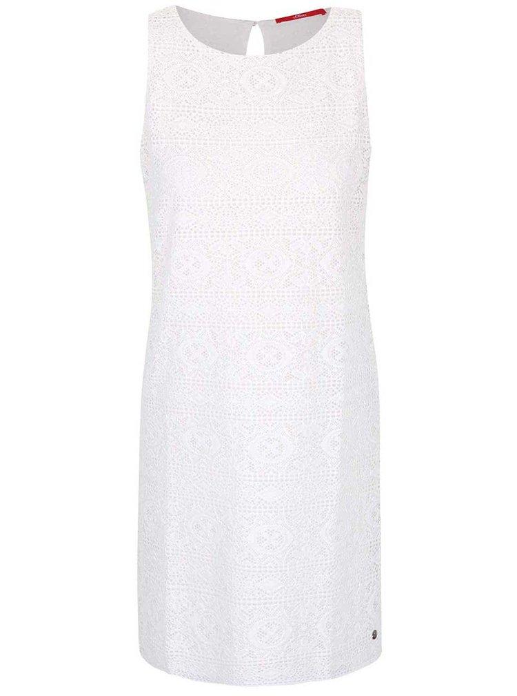 Krémové krajkové šaty s.Oliver