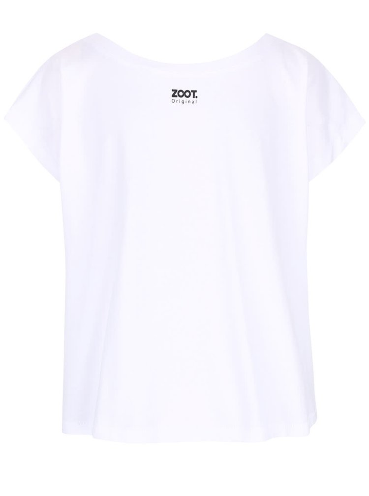 Biele dámske voľnejšie tričko ZOOT Originál Fairplay