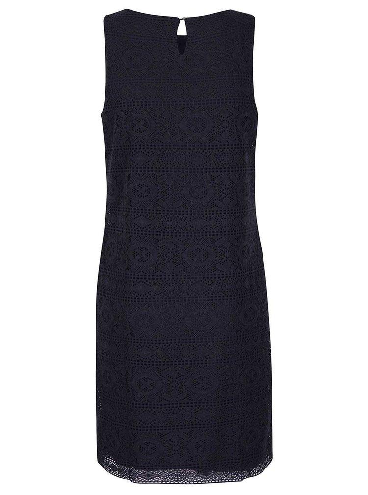 Tmavě modré krajkové šaty s.Oliver