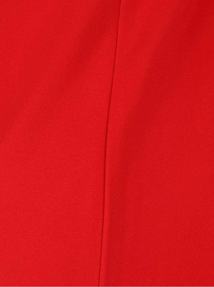 Červené šaty s 3/4 rukávem Smashed Lemon