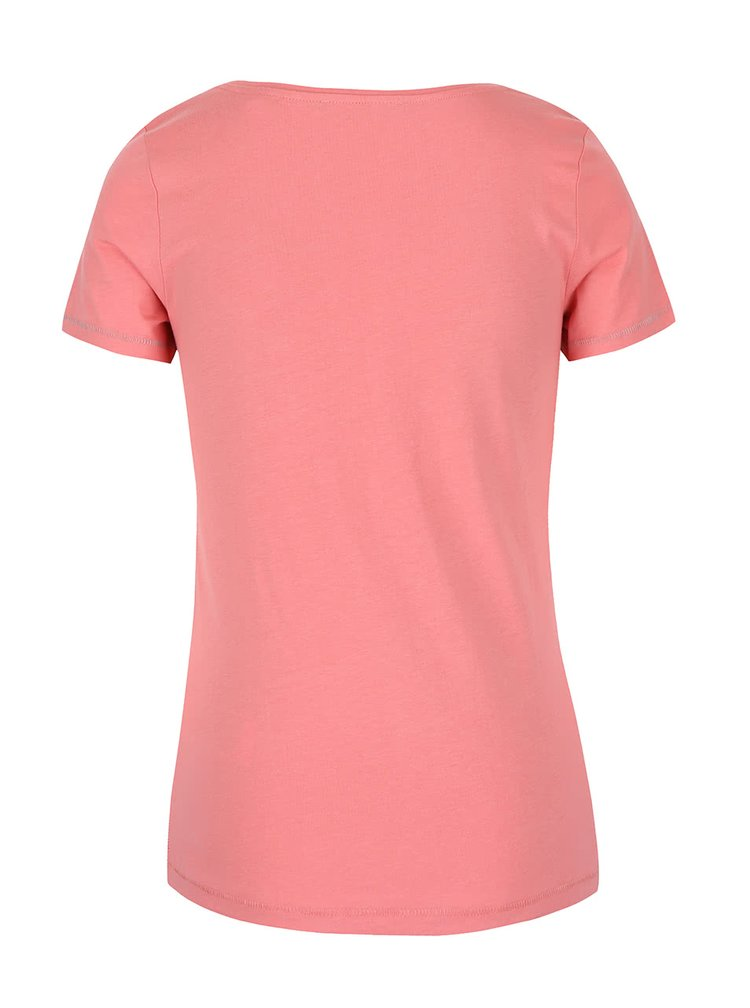 Růžové dámské tričko s potiskem s.Oliver