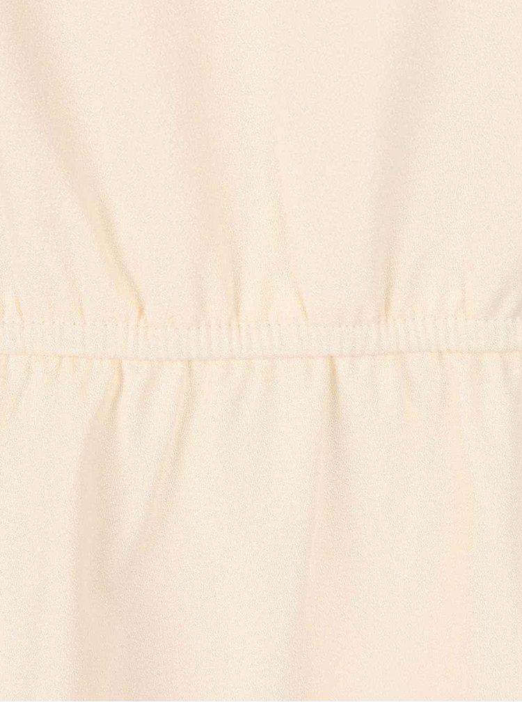 Krémové šaty se zúžením v pase Smashed Lemon