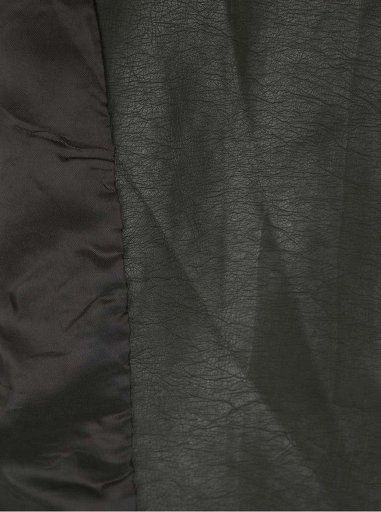 Kaki koženková bunda VERO MODA Marina