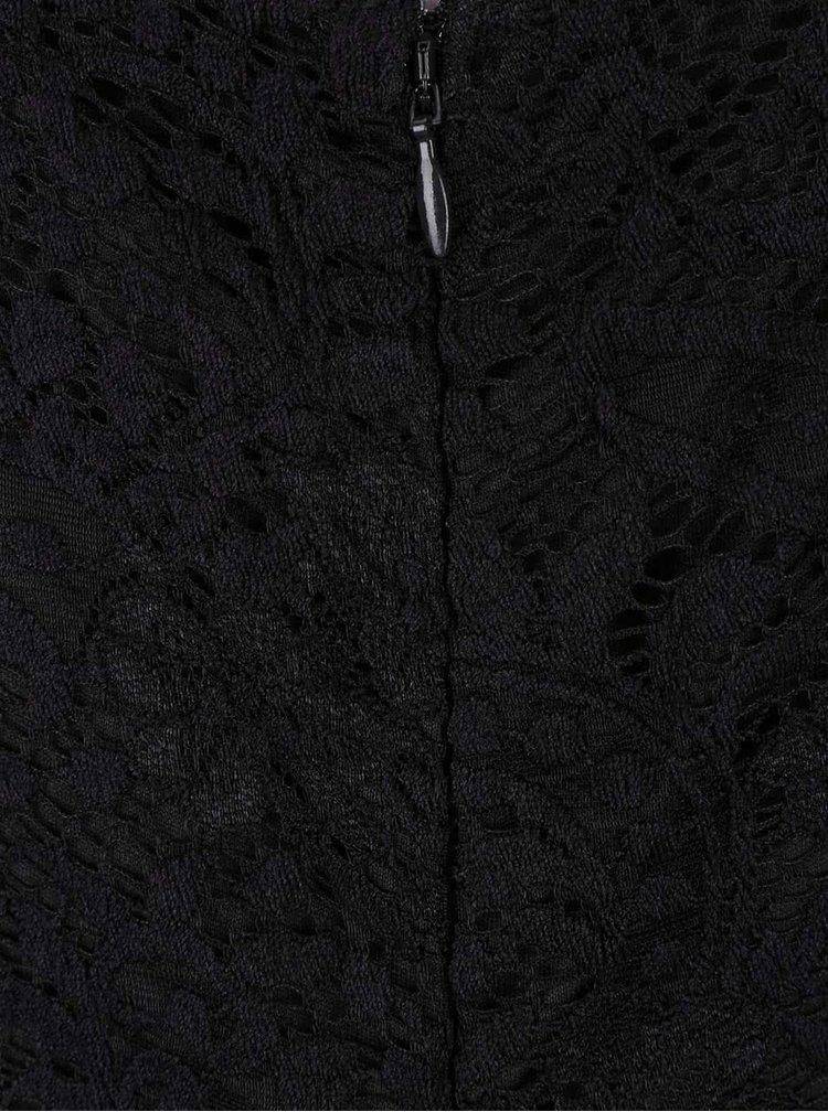 Černé krajkové šaty s dlouhým rukávem VERO MODA Celeb