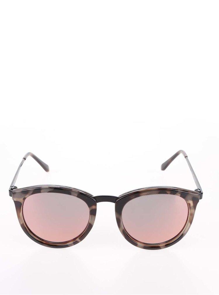 Hnědé želvovinové dámské sluneční brýle Le Specs No Smirking