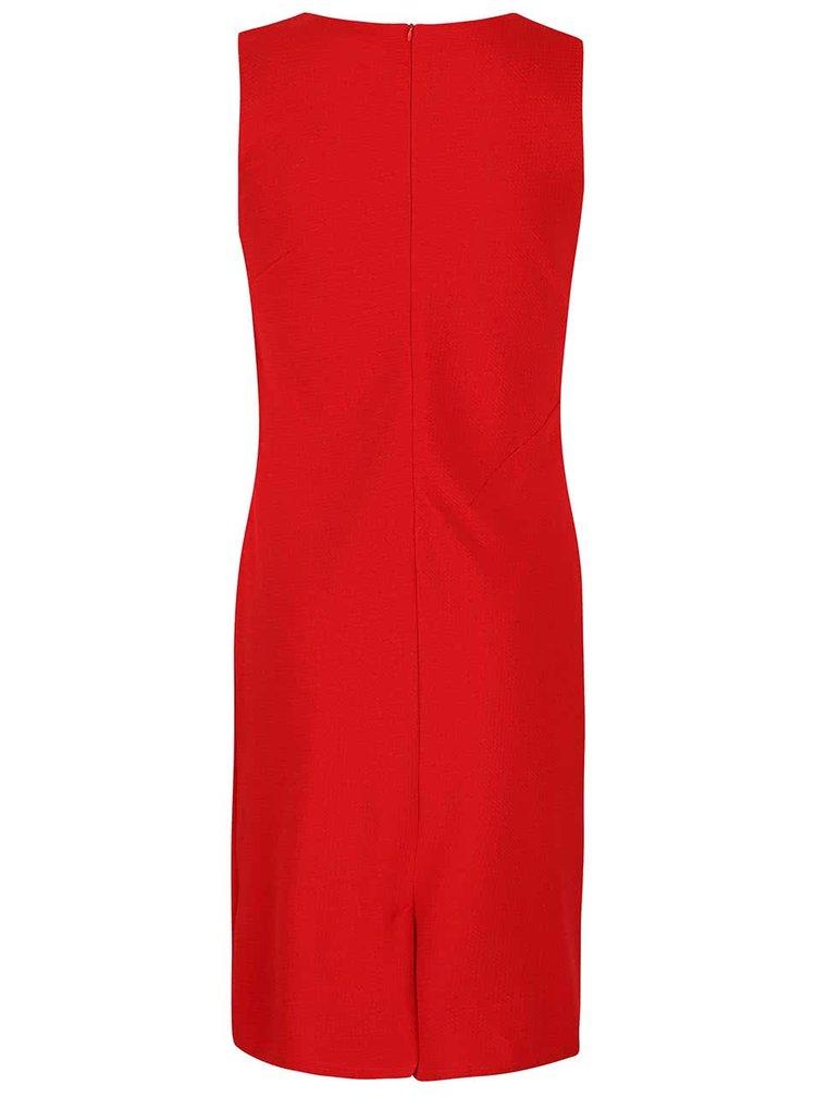 Červené puzdrové krepované šaty Smashed Lemon