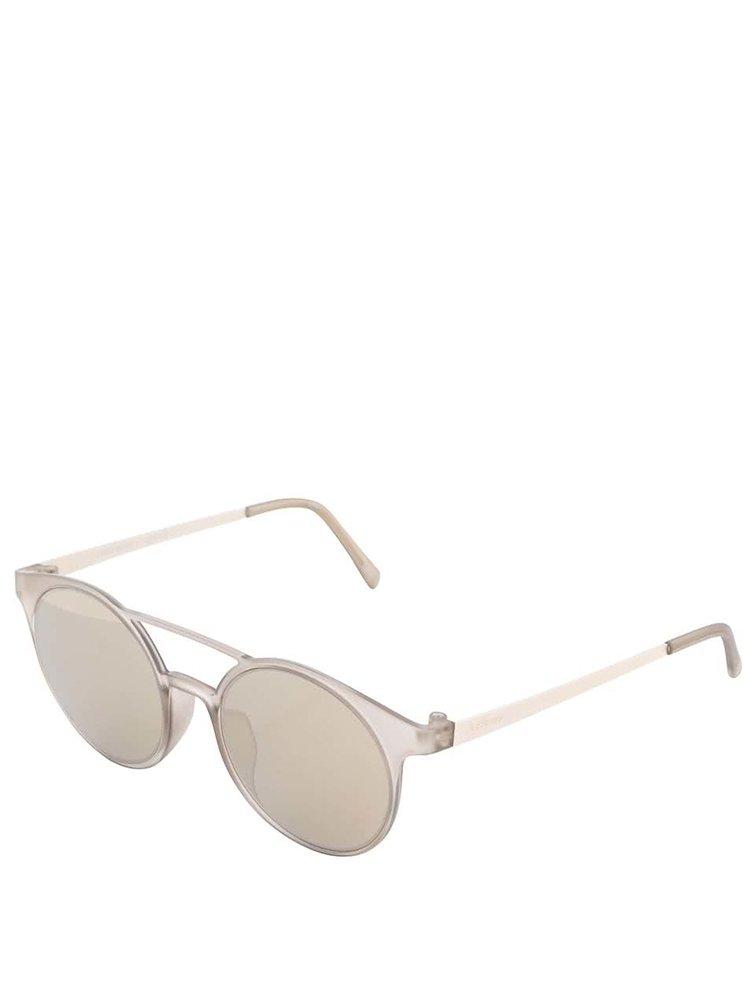 Sivé unisex slnečné okuliare Le Specs